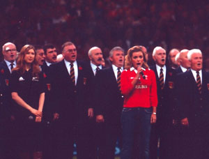 Millennium Stadium with Katherine  Jenkins and Hayley Westerna