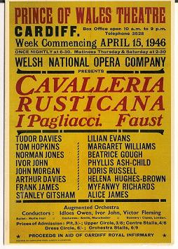 Early Welsh National Opera Poster