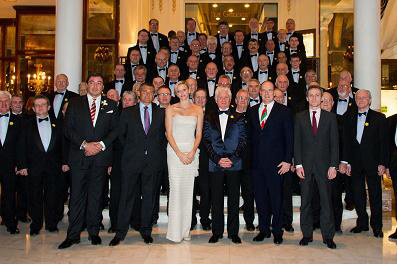 At the Hotel de Paris, Monte Carlo with Their Serene Highnesses Prince Albert II and Princess Charlene of Monaco.