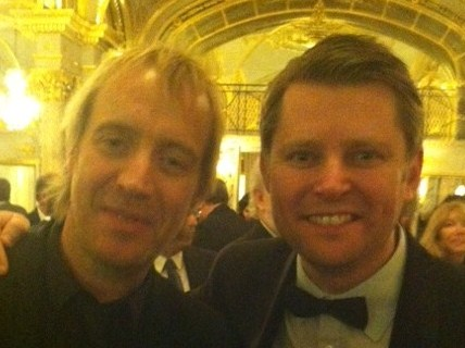 Rhys Ifans and chorister Stuart Smith