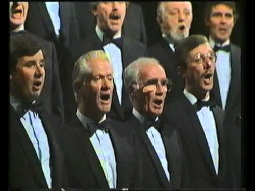 "The Choir singing ""Llef"" on ""Canwn Molliannwn"", 1990"