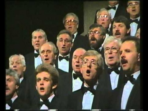 "The Choir singing ""Llan Baglan"" on ""Canwn Molliannwn"", 1990"