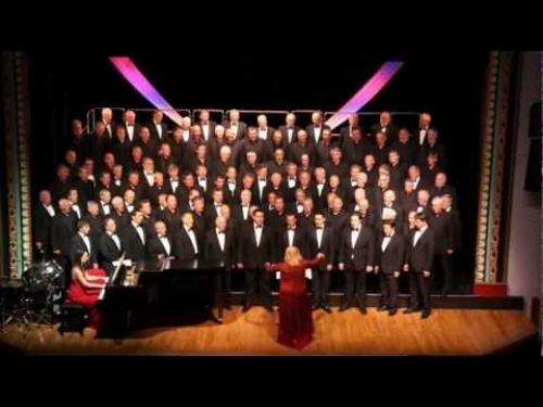 Performance with Rhos Male Choir at Y Stwit, June 2011